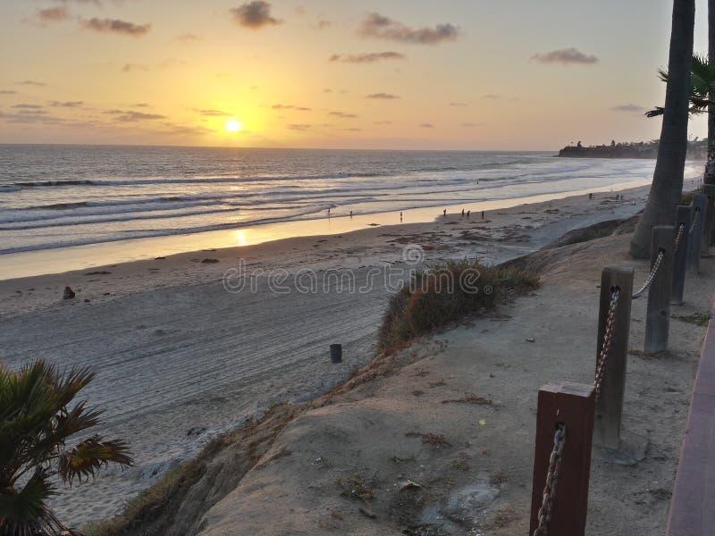 Beachy sunset stock photo