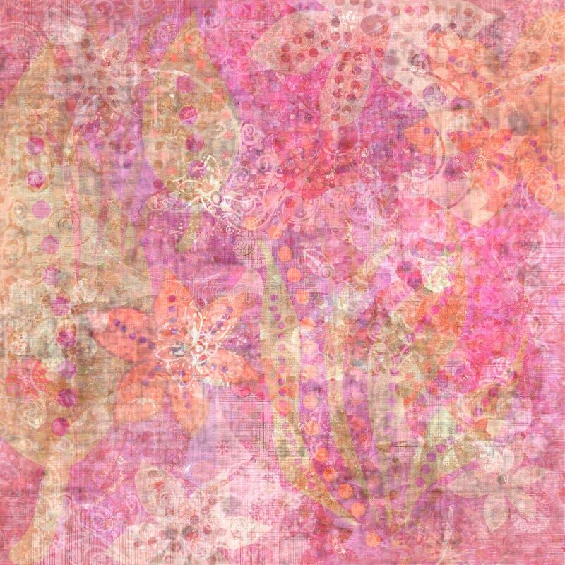 Free Beachy Tropical Bohemian Tapestry Scrapbook Background Stock Photos - 1801143