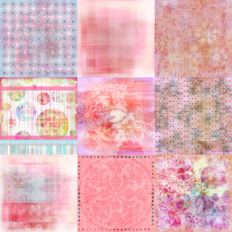 Beachy Tropical Bohemian Tapestry Scrapbook Background vector illustration