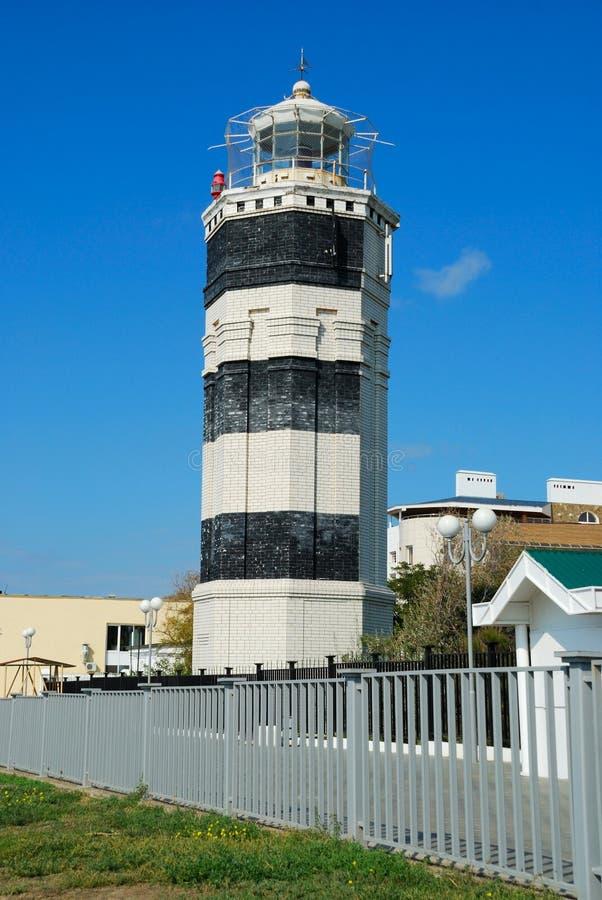Beacon in city Anapa royalty free stock photography