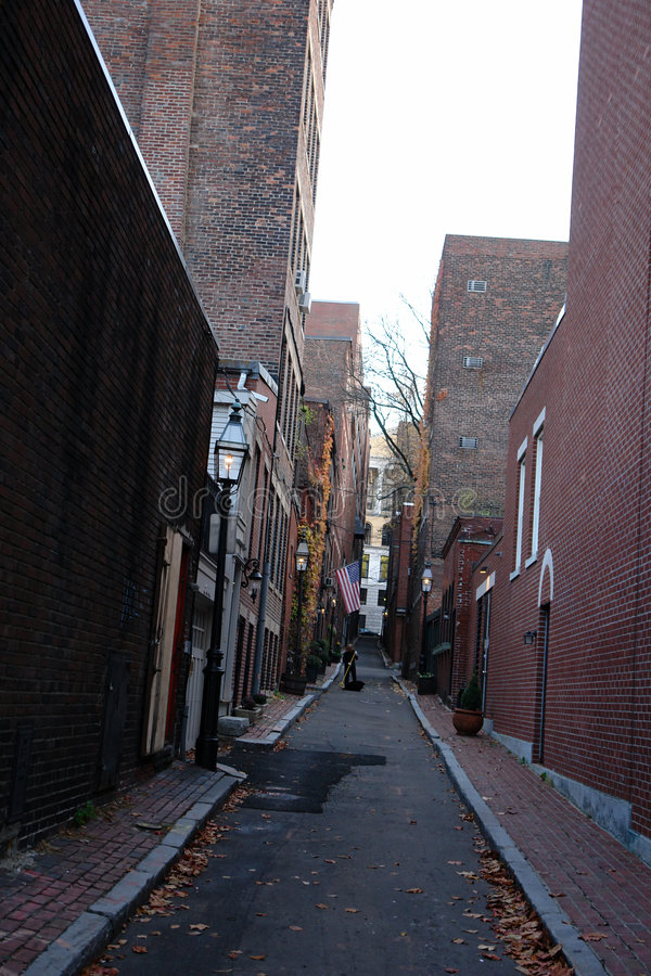 Download Beacon Hill Alley stock photo. Image of beacon, leaves - 1506828