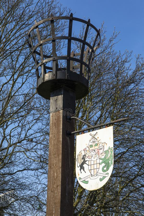 Beacon Monument in Rayleigh. A beacon monument in the market town of Rayleigh in Essex, erected in 1988 to commemorate the 400th Anniversary of the Spanish stock photos