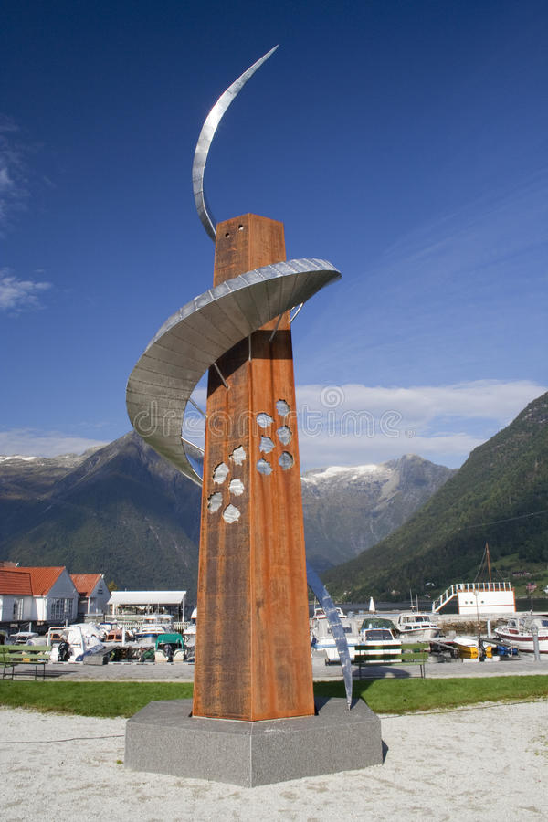 Download 'Beacon For Travellers' Sculpture By Geir Sverre Hjetland, Bales Editorial Photography - Image: 34878837