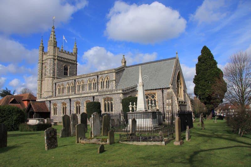 Beaconsfield Kirche stockfotos