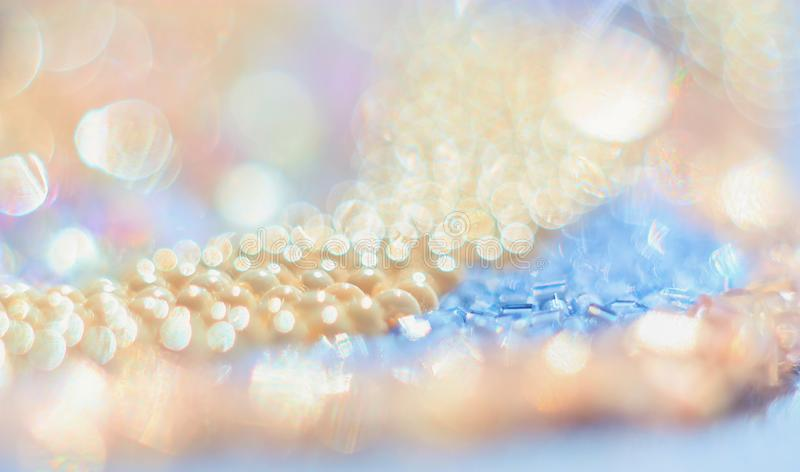Bead with gentle abstract bokeh background. Macrophotography bead with gentle abstract bokeh background royalty free stock image