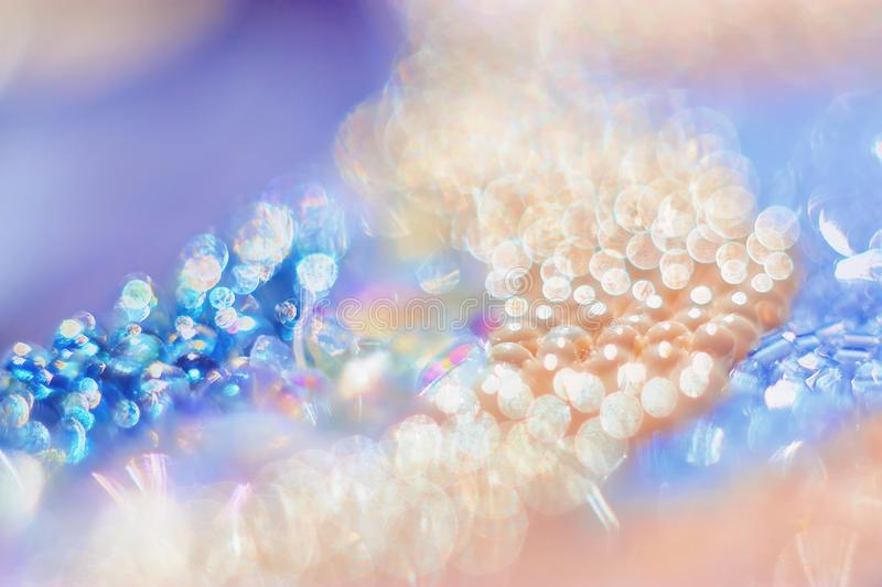 Bead with gentle abstract bokeh background. Macrophotography bead with gentle abstract bokeh background royalty free stock photos