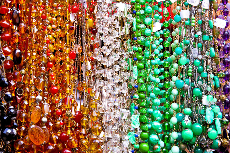 Download Bead necklaces stock photo. Image of beads, fashion, gold - 13638234