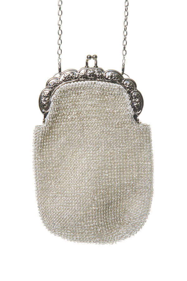 Beaded evening bag royalty free stock photo