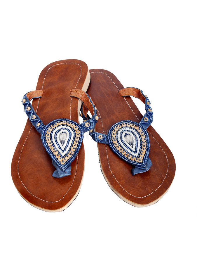 Beaded sandal royalty free stock photography