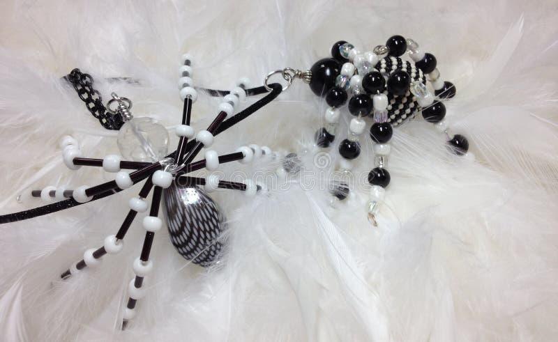 Beaded Spider Pendants stock photos