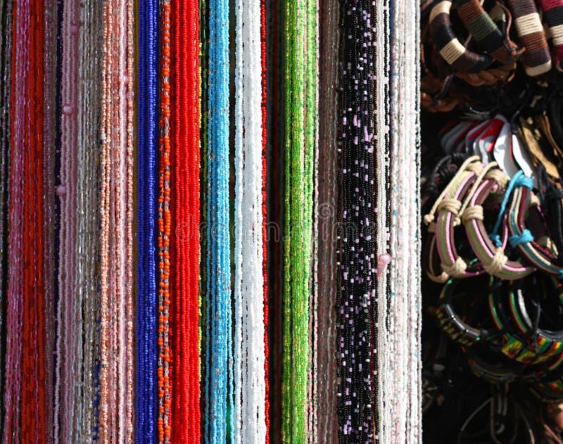 beads armband royaltyfria bilder