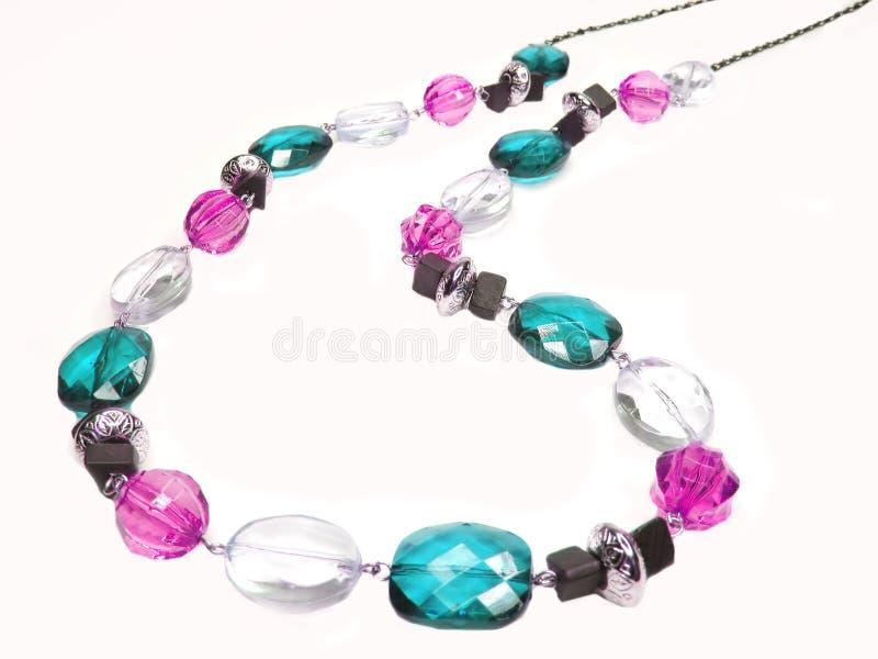 beads blå pink royaltyfria bilder