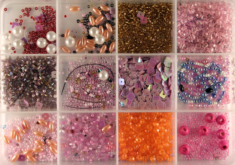 Download Beads in a box stock photo. Image of stone, colour, craft - 401318