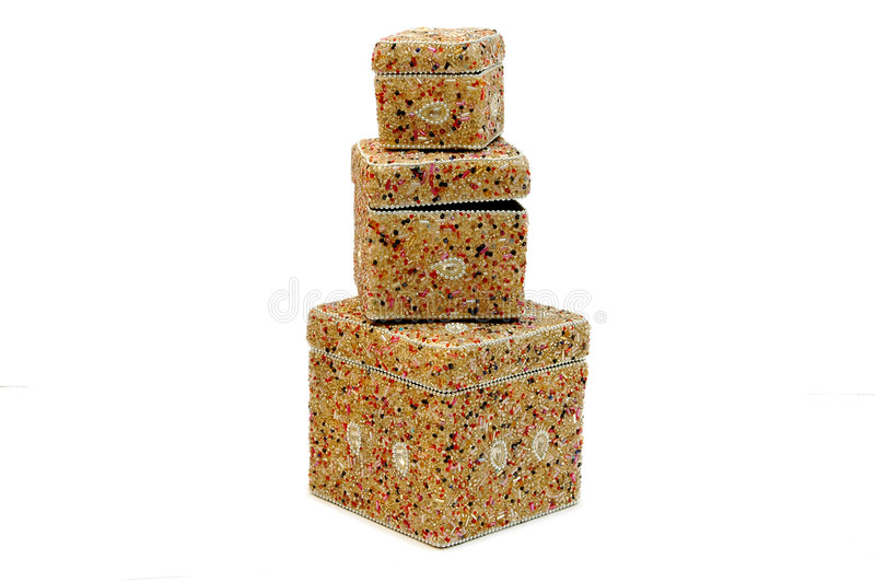 Beads Boxes Stock Photo