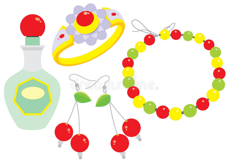 Download Beads, Clips, Ring And Perfume Stock Photo - Image: 19444950