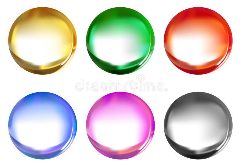 beads exponeringsglas royaltyfri illustrationer