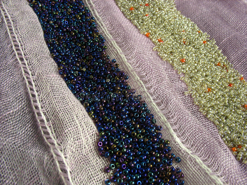 Download Beads on fabric stock image. Image of shining, textile - 26388629