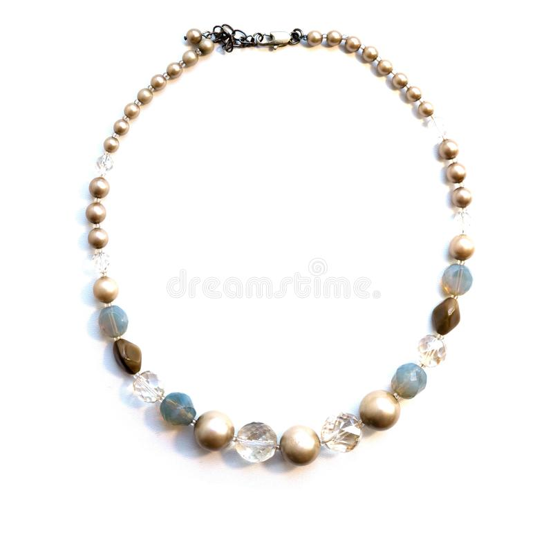 Beads from glass beads of cute pastel shades.  stock photos