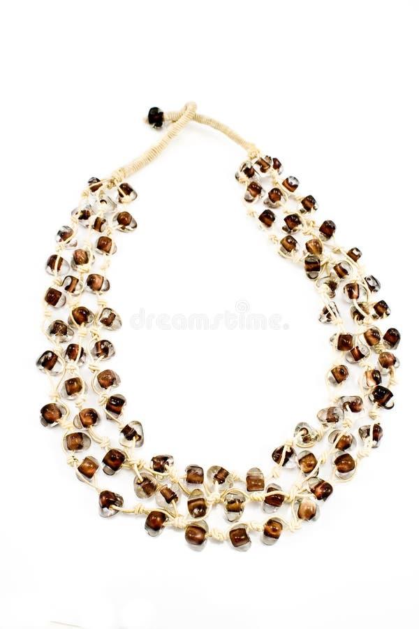 beads glass vita halsbandrep fotografering för bildbyråer