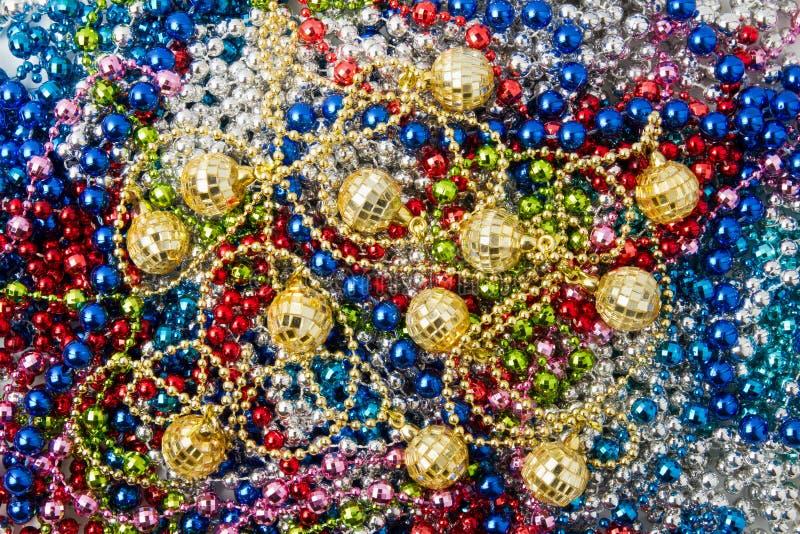 beads julgarneringgirlanden royaltyfria foton