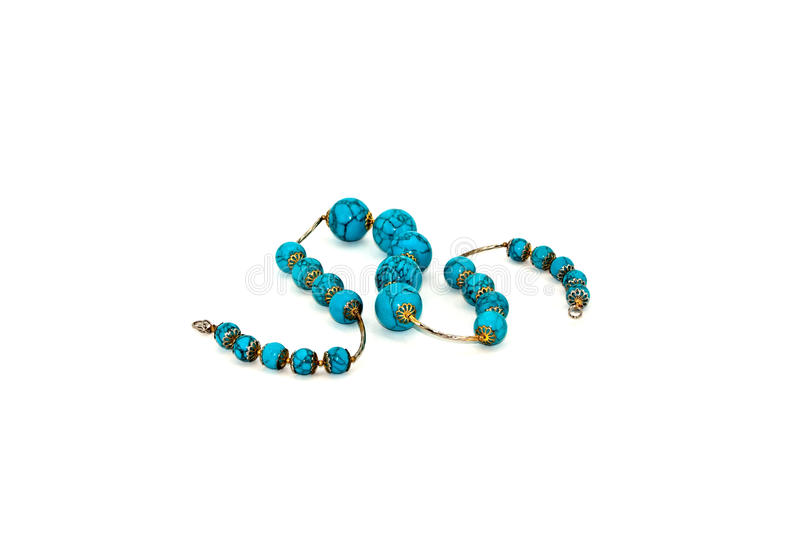 Beads made of turquoise royalty free stock images