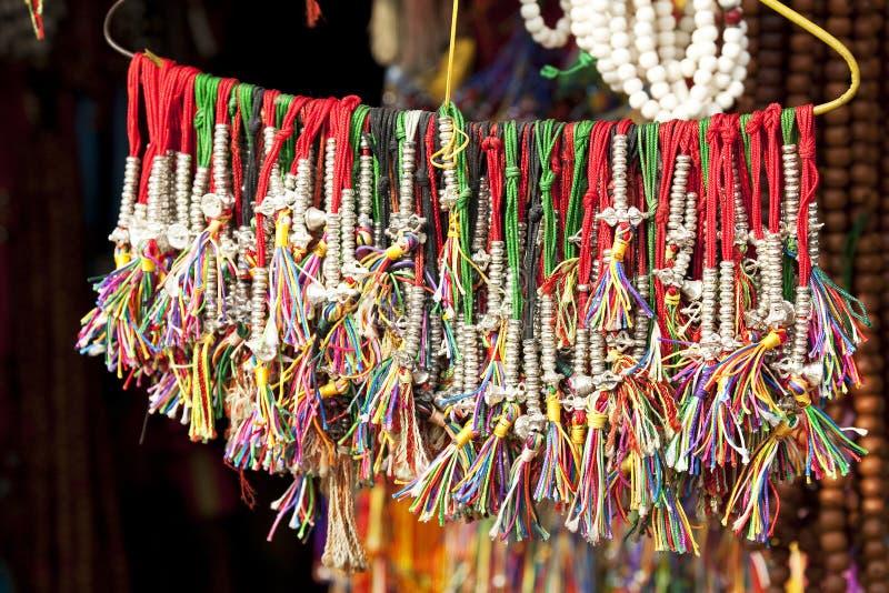 beads nepalese traditionellt arkivfoton