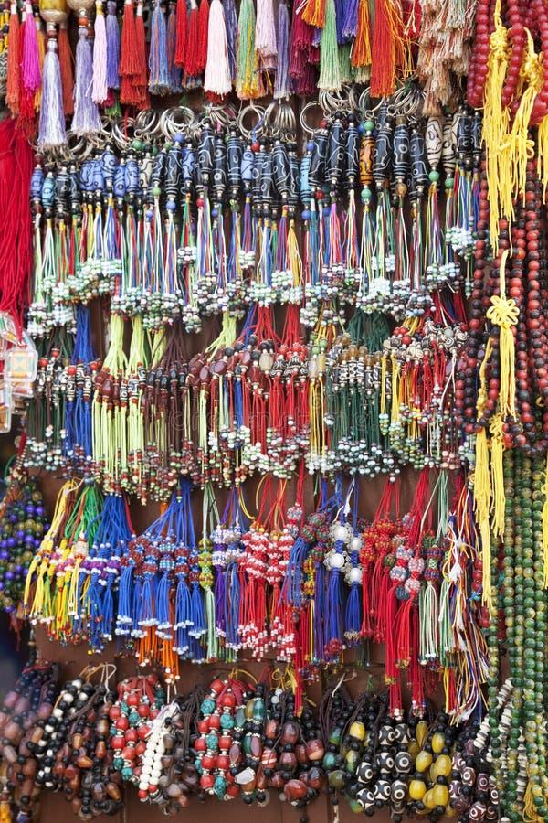 beads nepalese traditionellt arkivfoto