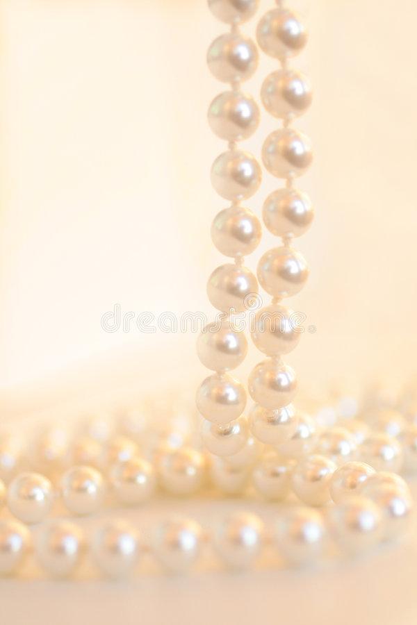 Beads of pearls. Close-up royalty free stock images