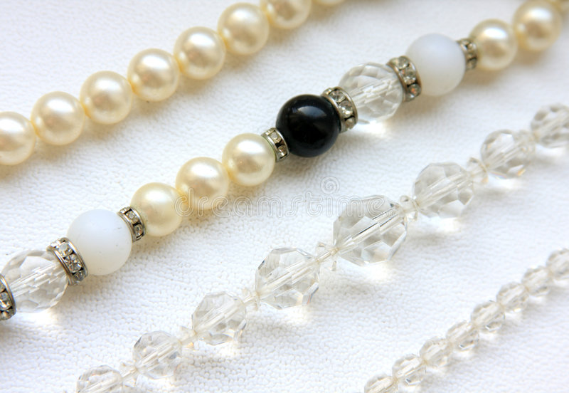 Beads and Pearls stock photography