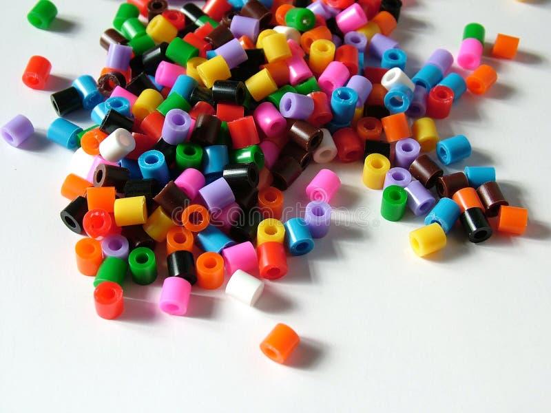 beads plasic royaltyfri fotografi