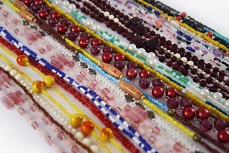 Download Beads strings background stock photo. Image of item, pearl - 12468144