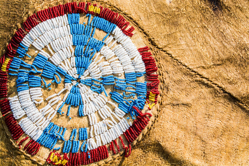 Beadwork de natif américain images stock