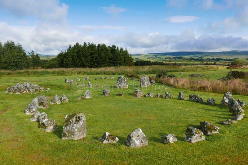 Beaghmore stone circles stock photo