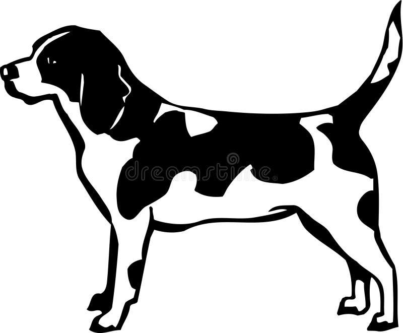 Beagle. Line Art Illustration of a Beagle vector illustration