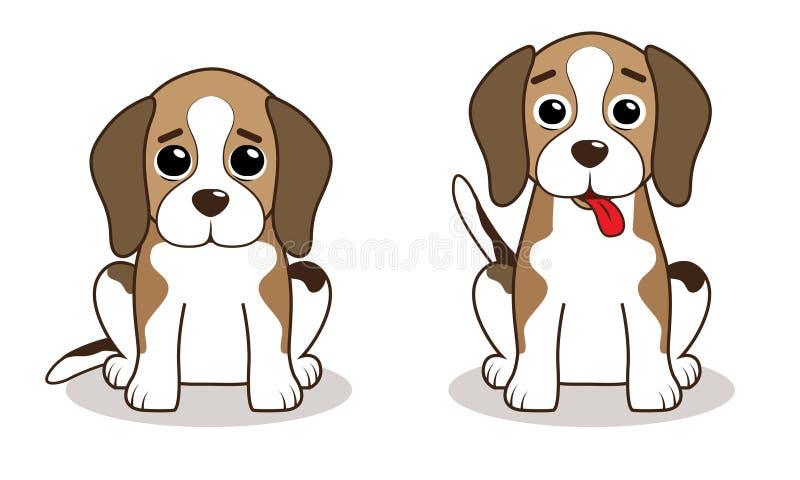 Beagle. Cute beagle dog cartoon style illustration royalty free illustration