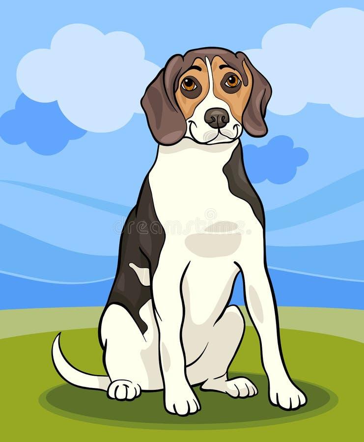 Beagle dog cartoon illustration royalty free illustration