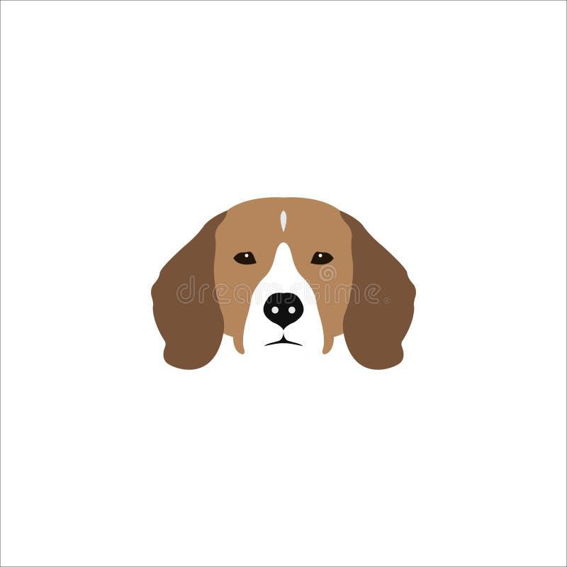 Beagle kierownicza ilustracja ilustracja wektor