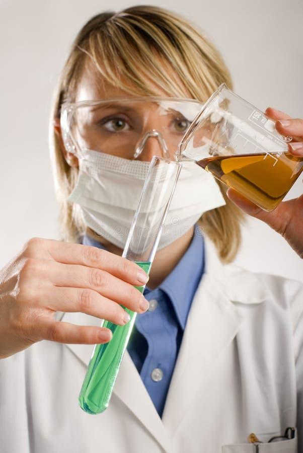 Beaker stock image