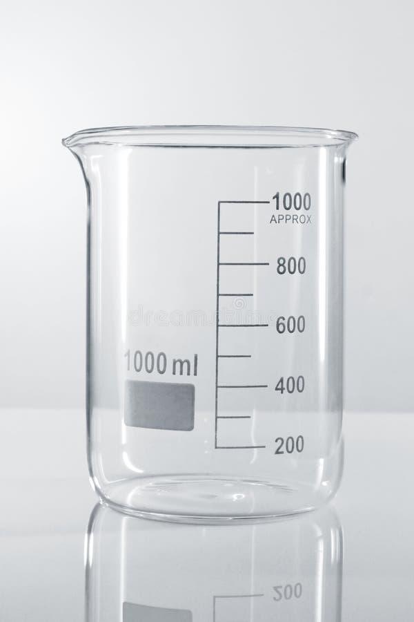 Beaker. Isolated on white background stock images