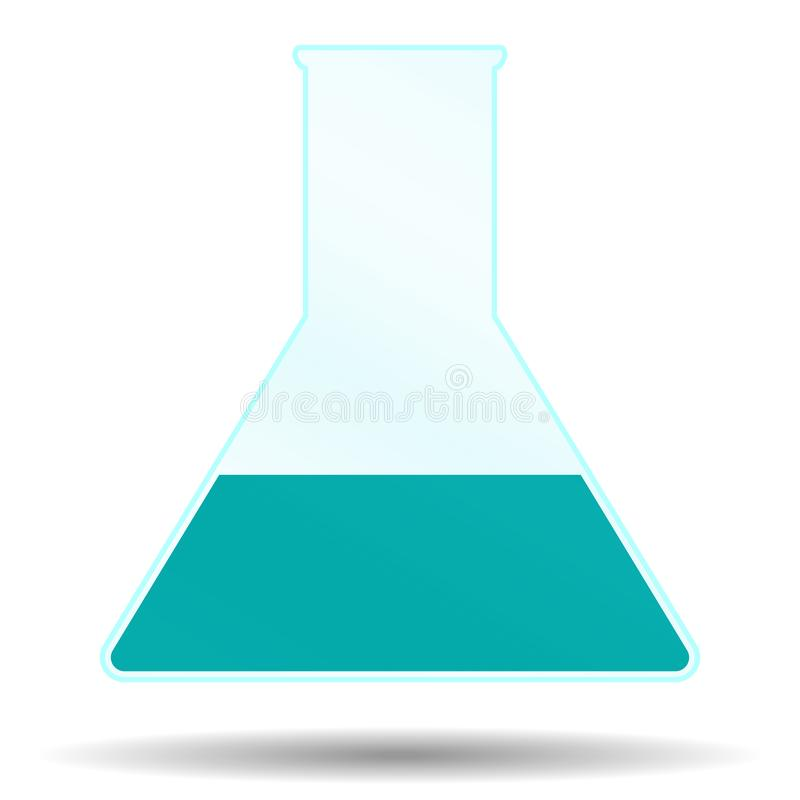 Beaker with liquid vector illustration
