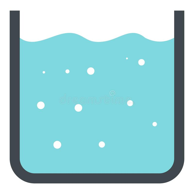 Beaker with pure blue water icon isolated vector illustration