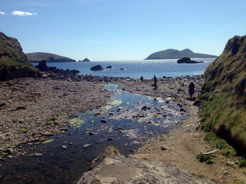Beal Atha Beach na península do Dingle fotografia de stock