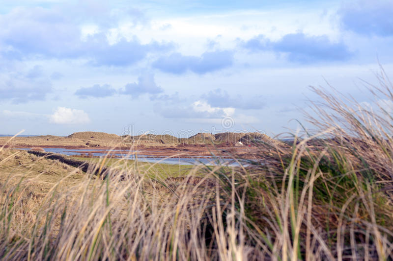 Beal dunes in Kerry. Dunes that have suffered extreme coastal erosion damage due to big storm waves royalty free stock photos