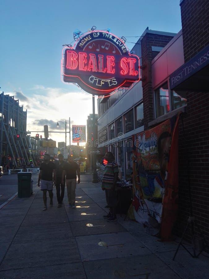 Beale gata royaltyfri bild