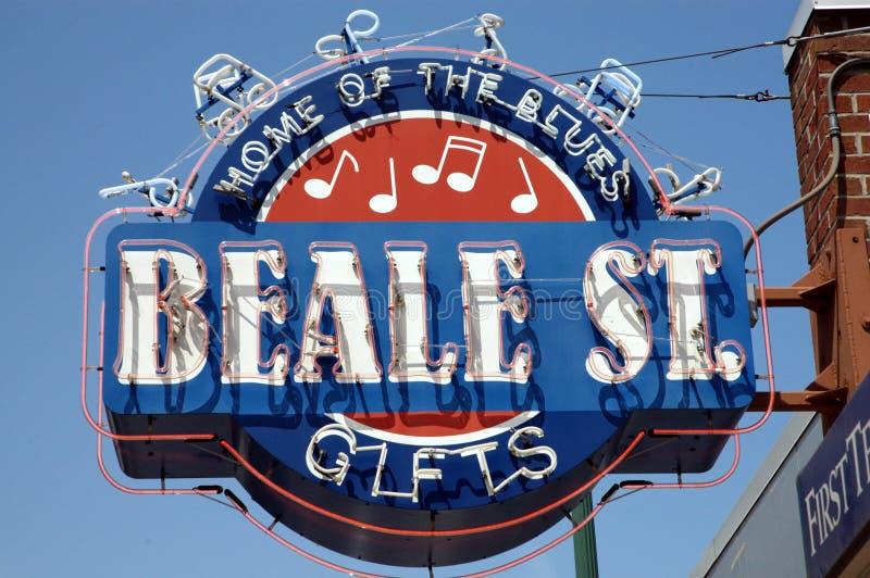 beale Memphis ulica zdjęcia royalty free