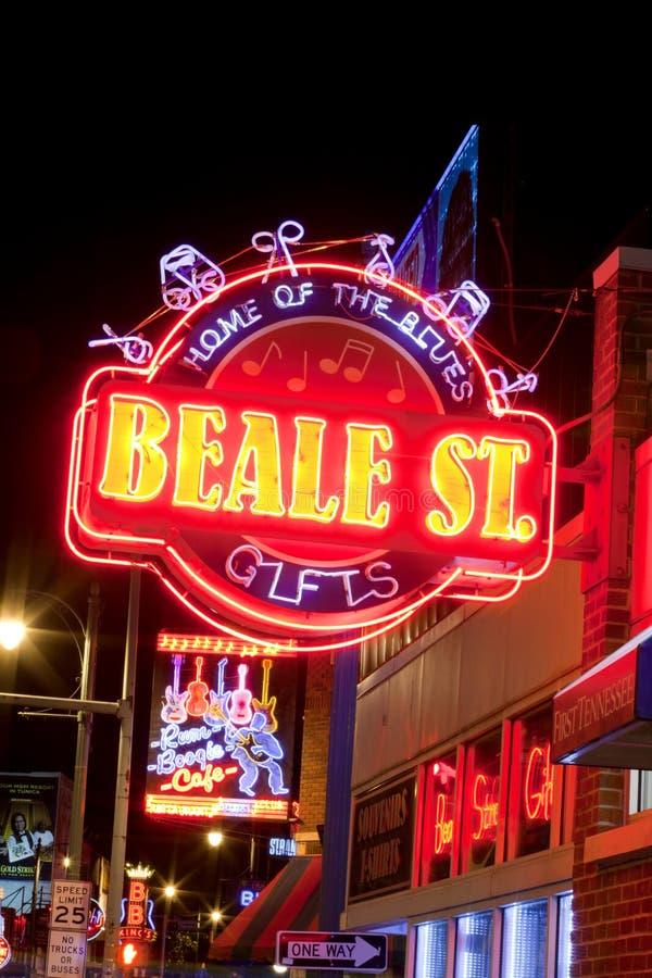 Beale Streetin W centrum Memphis, Tennessee fotografia stock