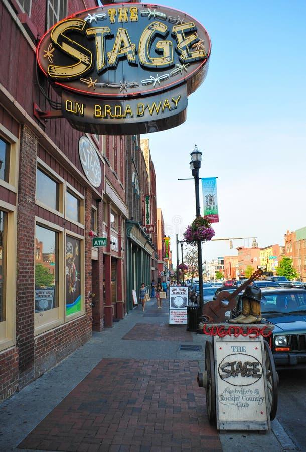 Beale ulica jest ulicą w W centrum Memphis zdjęcia royalty free