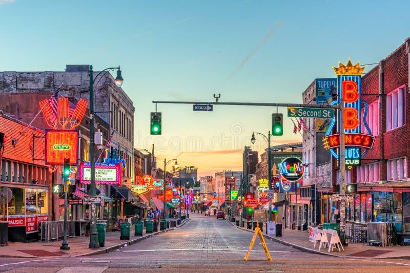 Beale ulica, Memphis zdjęcie stock