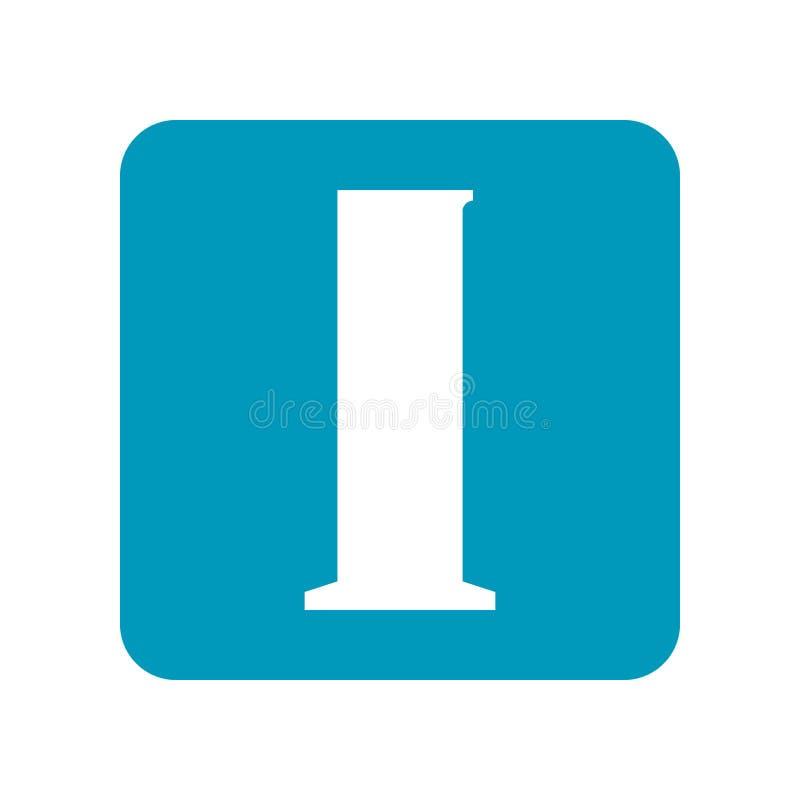 bealle Плоский значок лабораторного оборудования для исследования, экспериментов, медицины и фармацевтической продукции Объект дл иллюстрация вектора