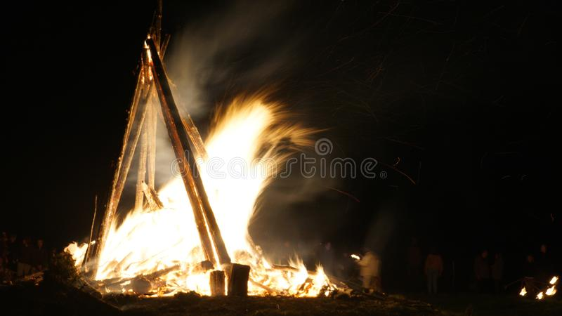 Download Bealtaine Fire Festival stock image. Image of night - 114641269